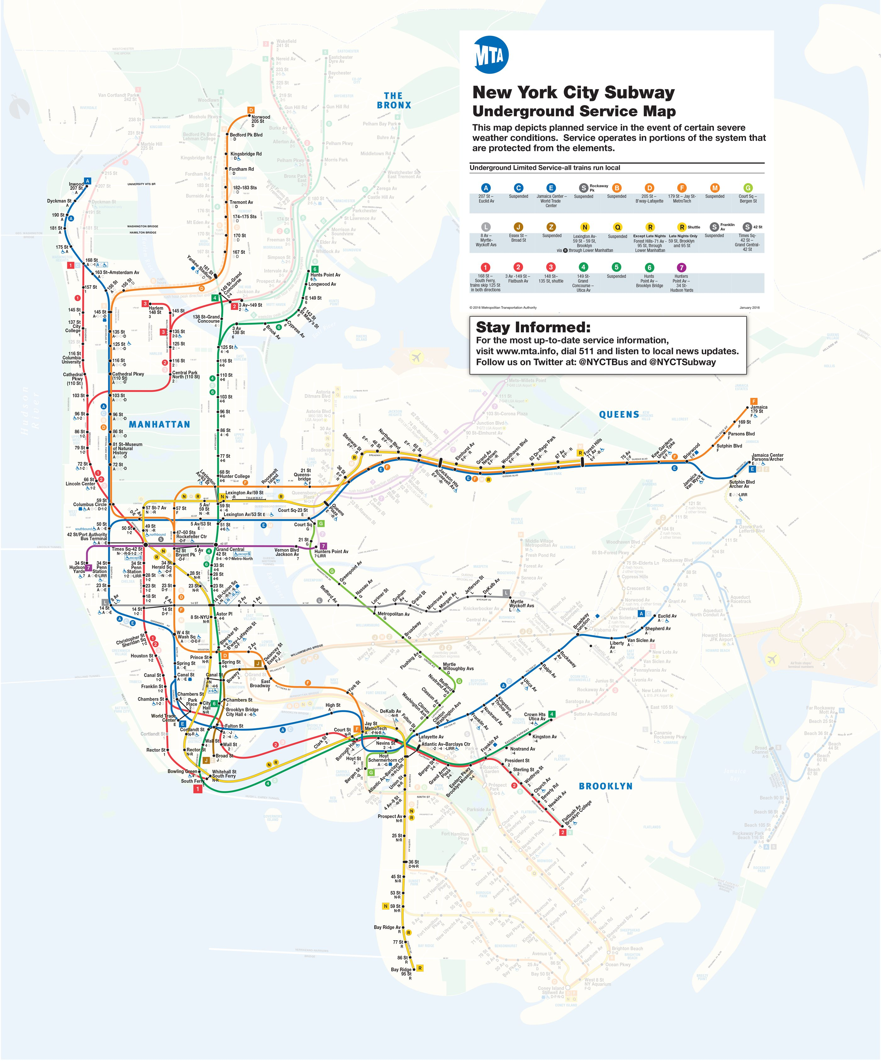 R Line Subway Map.Elevated Subway Lines Metro North Shut Down Due To Blizzard
