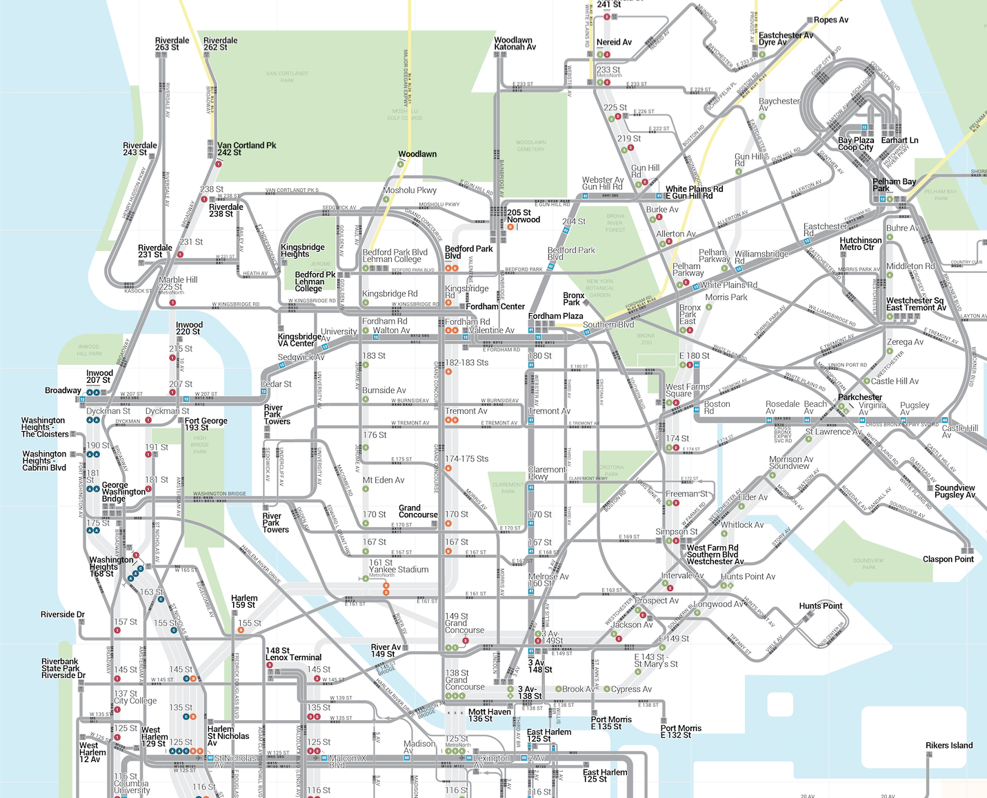 New Transit Map Will Make Connecting Between Buses Subways Easy In - Easy map of nyc